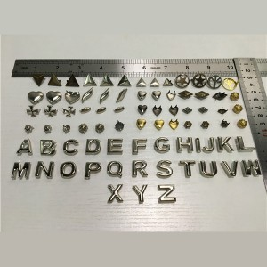 alphabet letters prong studs-2