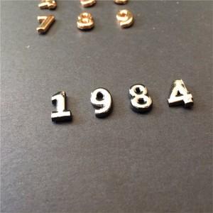 arabic numeral rivets 2