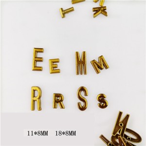 big size 18mm and 11mm  alphabet letter rivets 4