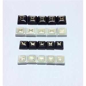 drop resin letter m rivets 2