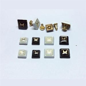 drop resin letter m rivets 3