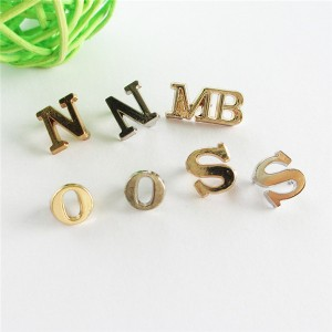 gold color letters with rivets 1