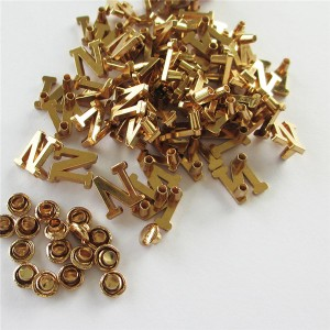 gold color letters with rivets 3