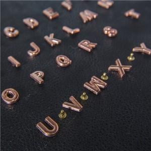 rose gold letter rivets 2