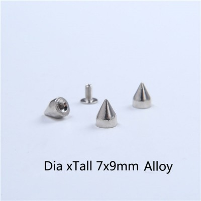 H001 Cone Screw Spikes 7x8.7mm 100pcs/bag