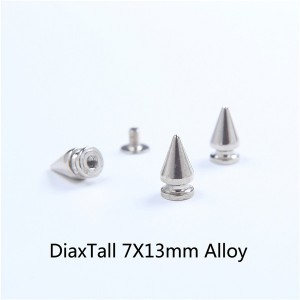 H004 Tree Spikes For Leather 7x13mm 100pcs/bag
