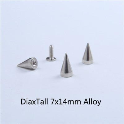 H005 Cone Screw Spikes 7x14mm 100pcs/bag