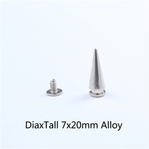 H009 Screw Back Tree Spikes 7x20mm 100pcs/bag