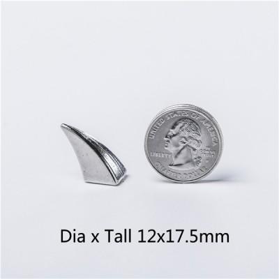 H022 Ox Horn Screwback Spikes 11x23mm 100pcs/bag