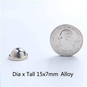 H043 Dome&Mushrooms Screw Spikes 15X7mm 100pcs/bag