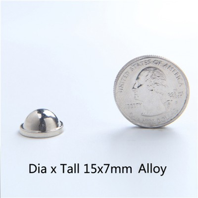 H043 Dome&Mushrooms Screw Spikes 15X7mm 100pcs/bag