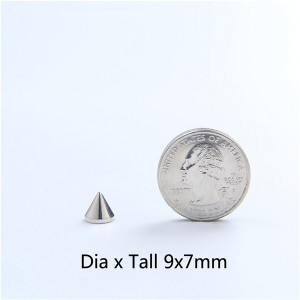 H053 Conical Spikes 9x6.7mm 100pcs/bag