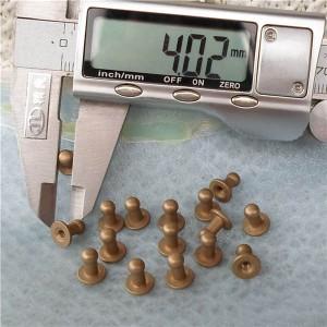 H070408 Nipple&Monk Head Screwback Spikes 7x4x8mm  100pcs/bag