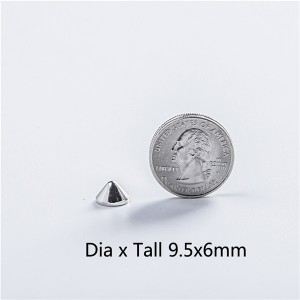 NO10-H006 Cone Screw Spikes 9.5x6mm 100pcs/bag