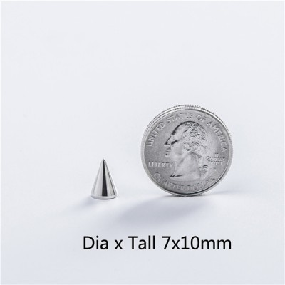 NO13 Cone Screw Spikes 7x10mm 100pcs/bag