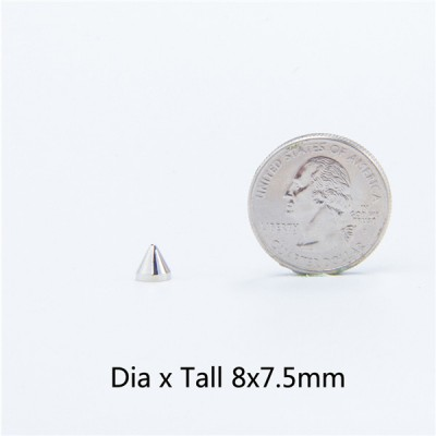 NO18 Cone Screw Spikes 8x7.5mm 100pcs/bag