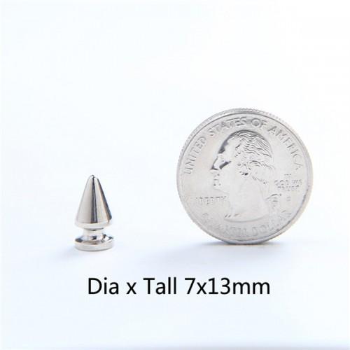 Bracelet Handbag 100 pcs Cone Spike 7mm tall Silver color screwback for Shoes