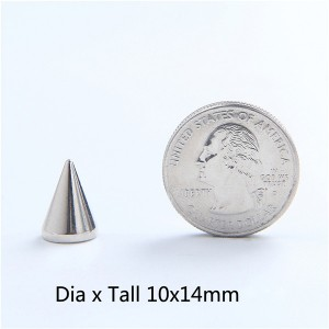 NO32 Cone Spike Studs 10x14mm  100pcs/bag