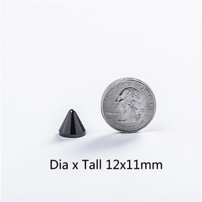 NO38-H054 Conical Screw Spikes 12x11mm 100pcs/bag