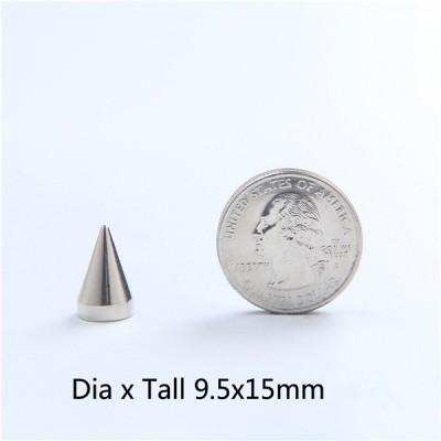 NO65 Spikes Cone Mmetal 9.5x15mm 100pcs/bag