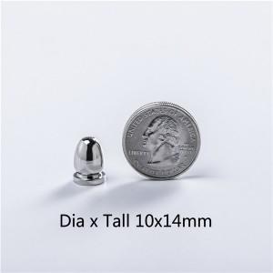 NO69 Bullet Screw Spikes 10X14mm 100pcs/bag