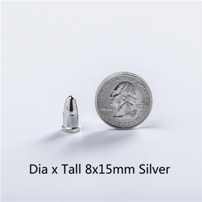 NO70 Bullet Screw Spikes 8X15mm 100pcs/bag