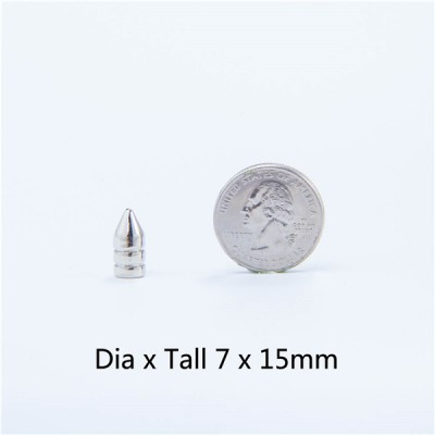 NO71 H012 Punk Bullet Spike Studs 7X15mm 100pcs/bag