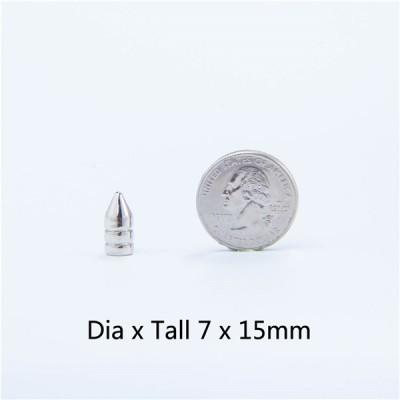 NO71 H012 Punk Bullet Spike Studs 7X15mm 100pcs/bag