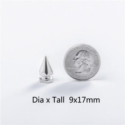 NO83 Brass Hex Screw Spikes 9x17mm 100pcs/bag