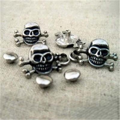 D001 Skull Alloy Rivets 15x12mm 100pcs/bag