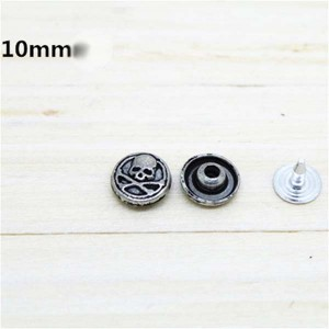D003 Skull Alloy Rivets 10mm 100pcs/bag