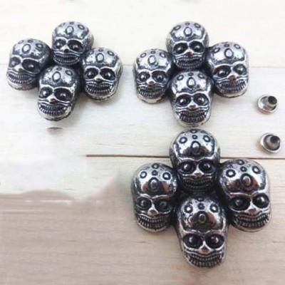 J4040 Skull Alloy Rivets 40x40mm 100pcs/bag