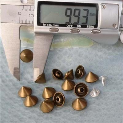 K010 Cone Alloy Rivets 10x7mm 100pcs/bag