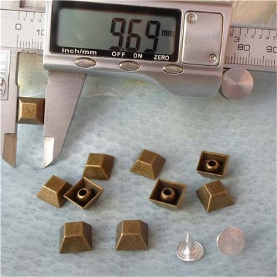 K026 Trapezoid Alloy Rivets 10x5mm 100pcs/bag