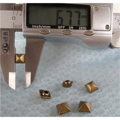 K029 Pyramid Mongolian Yurt Alloy Rivets 7mm 100pcs/bag