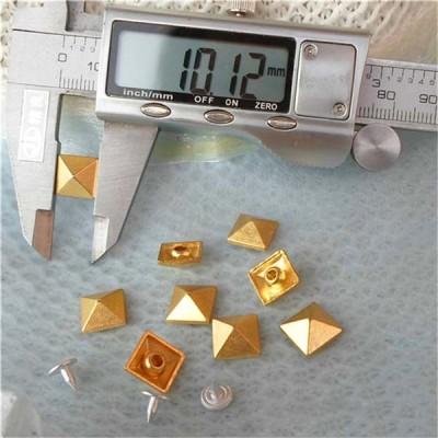 K036 Pyramid Alloy Rivets 10mm 100pcs/bag
