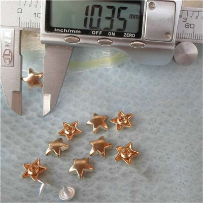 K038 Pentagram Alloy Rivets 11x5mm 100pcs/bag
