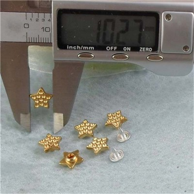 K039 Pentagram Alloy Rivets 10x3.5mm 100pcs/bag
