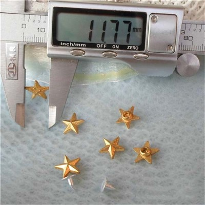 K041 Pentagram Alloy Rivets 11.5x4mm 100pcs/bag