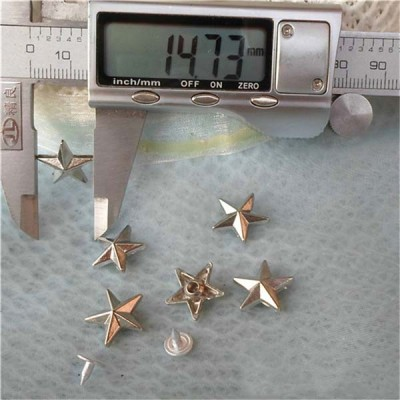 K042 Pentagram Alloy Rivets 14x4mm 100pcs/bag