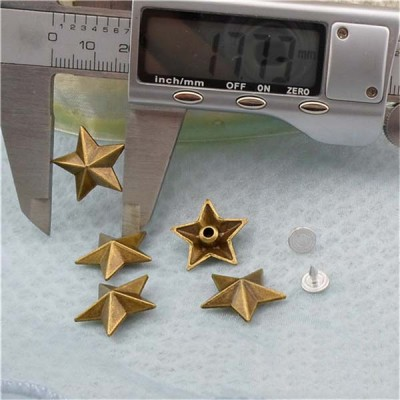 K044 Pentagram Alloy Rivets 18.5x6mm 100pcs/bag