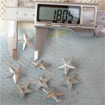 K047 Pentagram Alloy Rivets 18x8mm 100pcs/bag