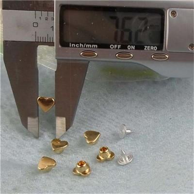 K058 Hearts Rivets 8x6mm 1000pcs/bag