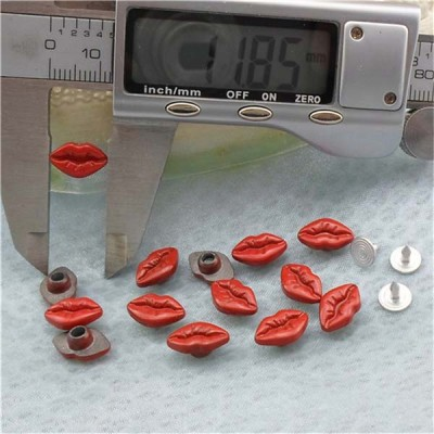 K063 Alloy Mouth Rivets 12x7mm 100pcs/bag