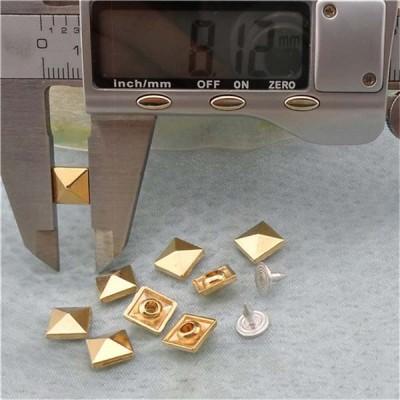 K064 Pyramid Alloy Rivets 8mm 100pcs/bag