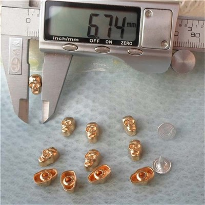 K066 Skull Alloy Rivets 7x10mm 100pcs/bag