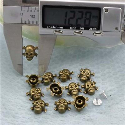 K071 Skull Head Rivets 12x12mm 100pcs/bag