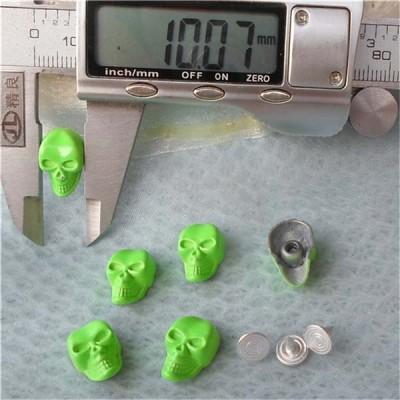 K076 Skull Head Rivets 10x16mm 100pcs/bag