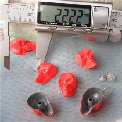 K077 Skull Head Rivets 22x14mm 100pcs/bag