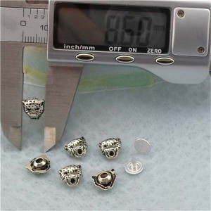K111 Leopard Alloy Rivets 9.2x8.6mm 100pcs/bag